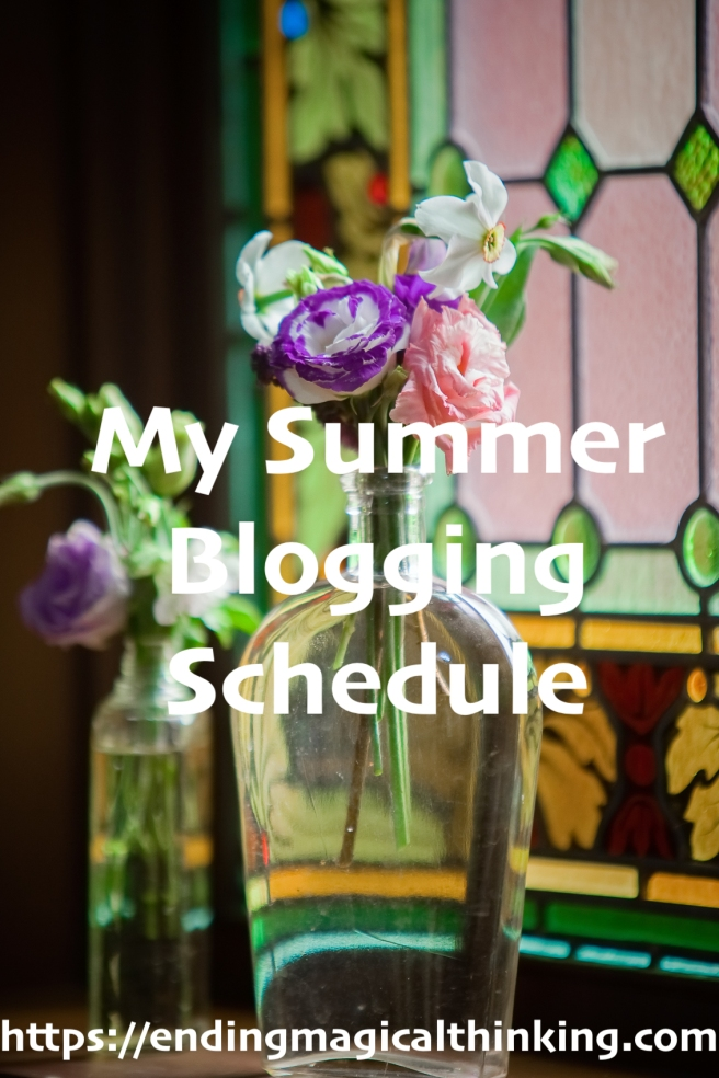 My Summer Blogging Schedule